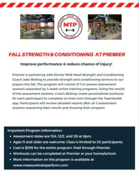 Jake Beiting Fall Weight Training & Conditioning Camp